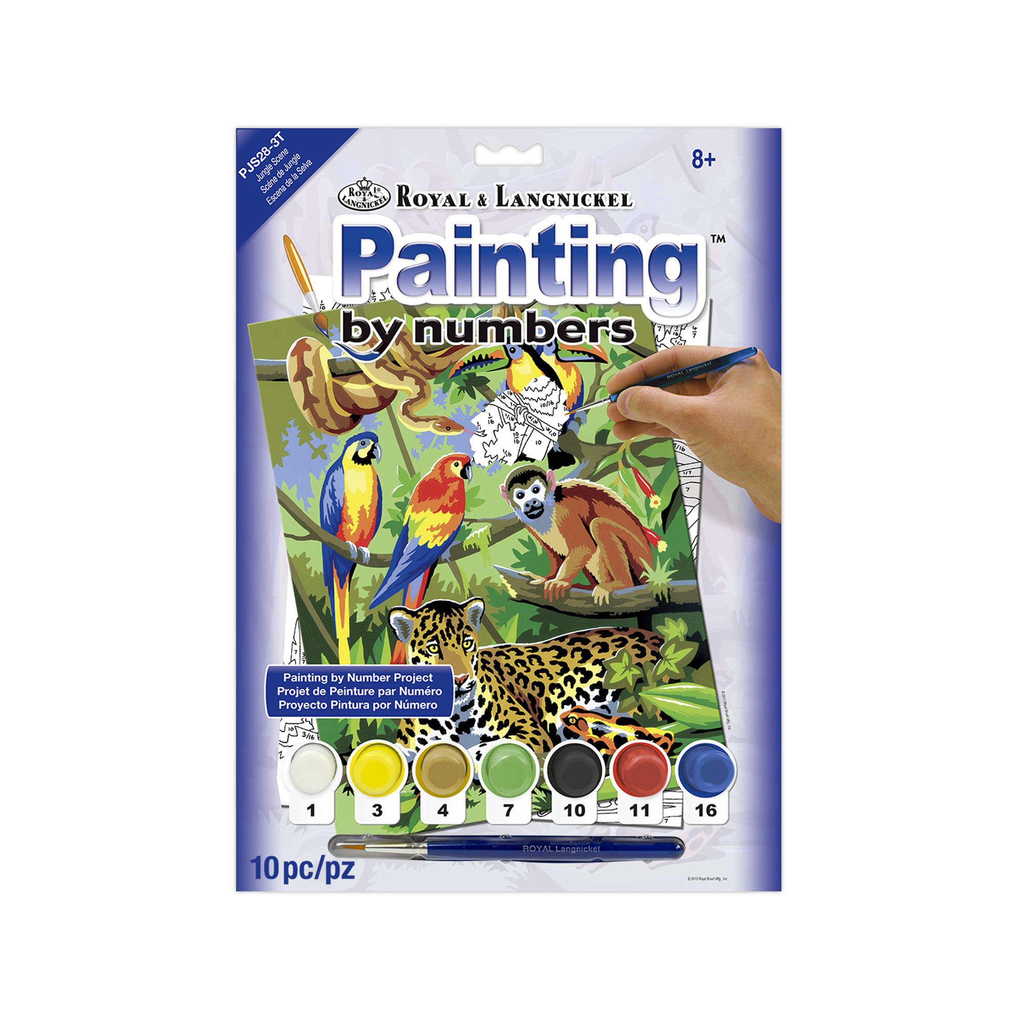 Jungle paint by numbers kit