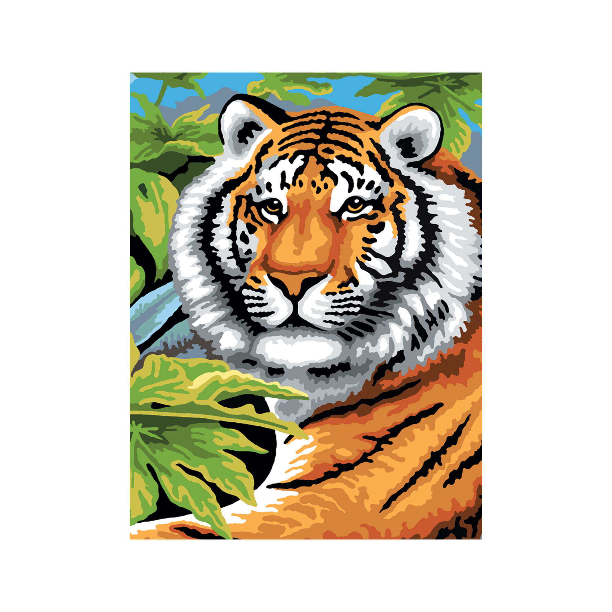 Big cats paint by numbers kit