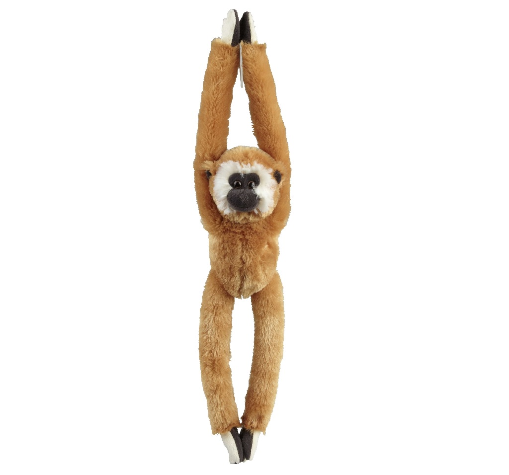Brown gibbon soft toy, 65cm
