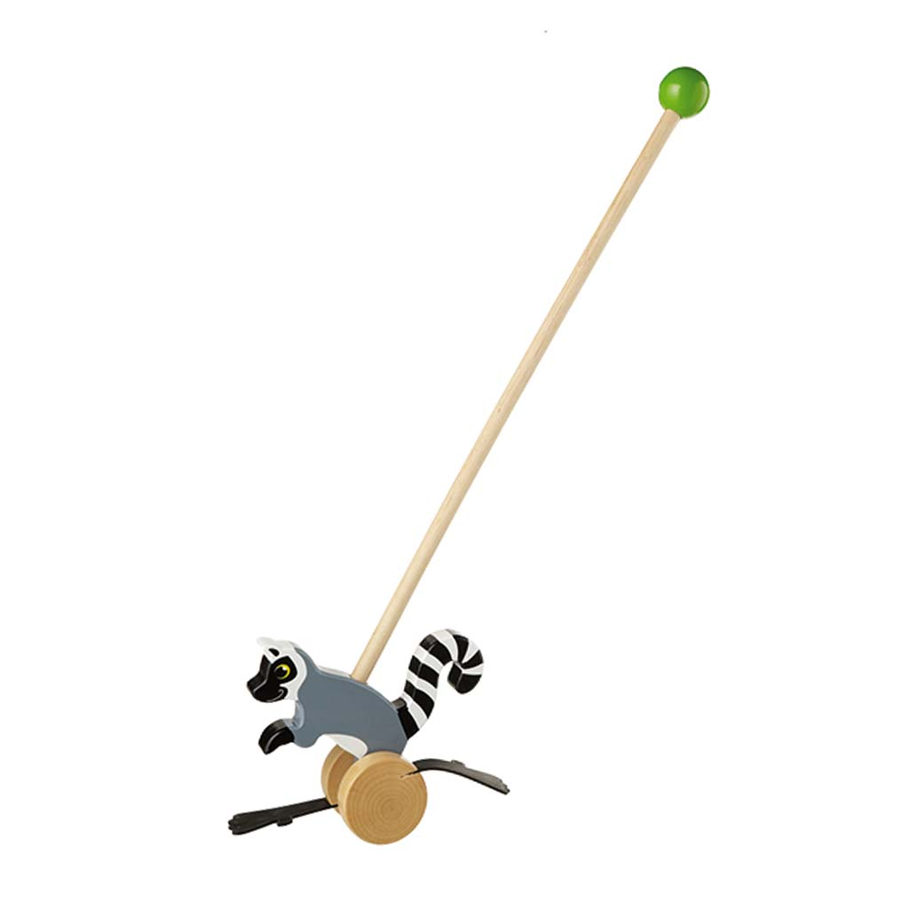 Lemur Wooden Push Along