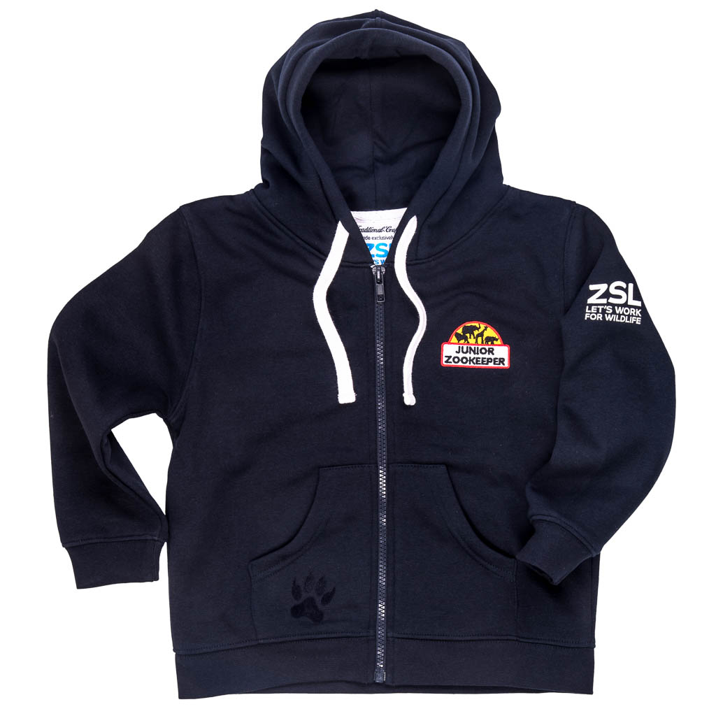 Junior Zoo Keeper hoodie, navy
