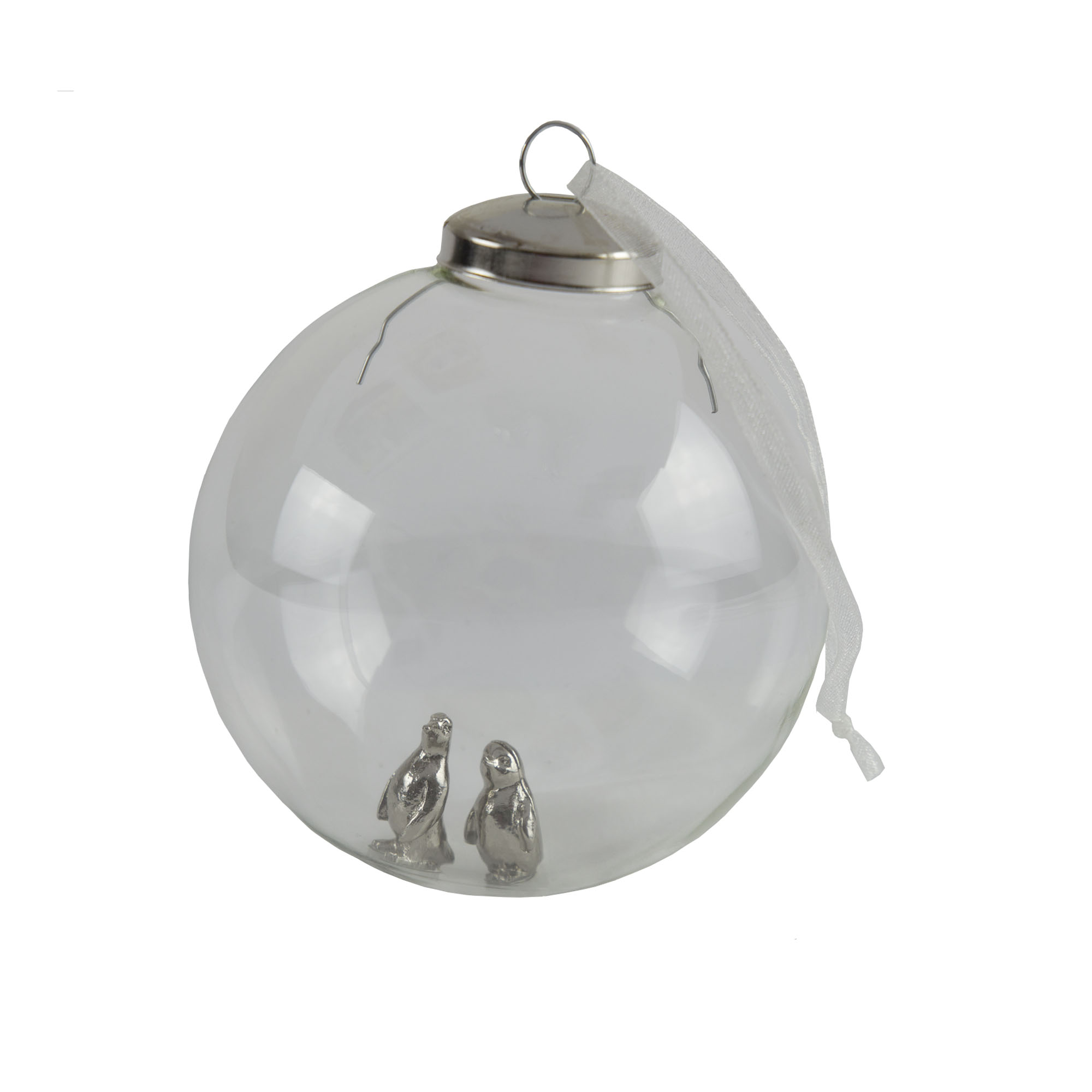 penguin chick and mother bauble