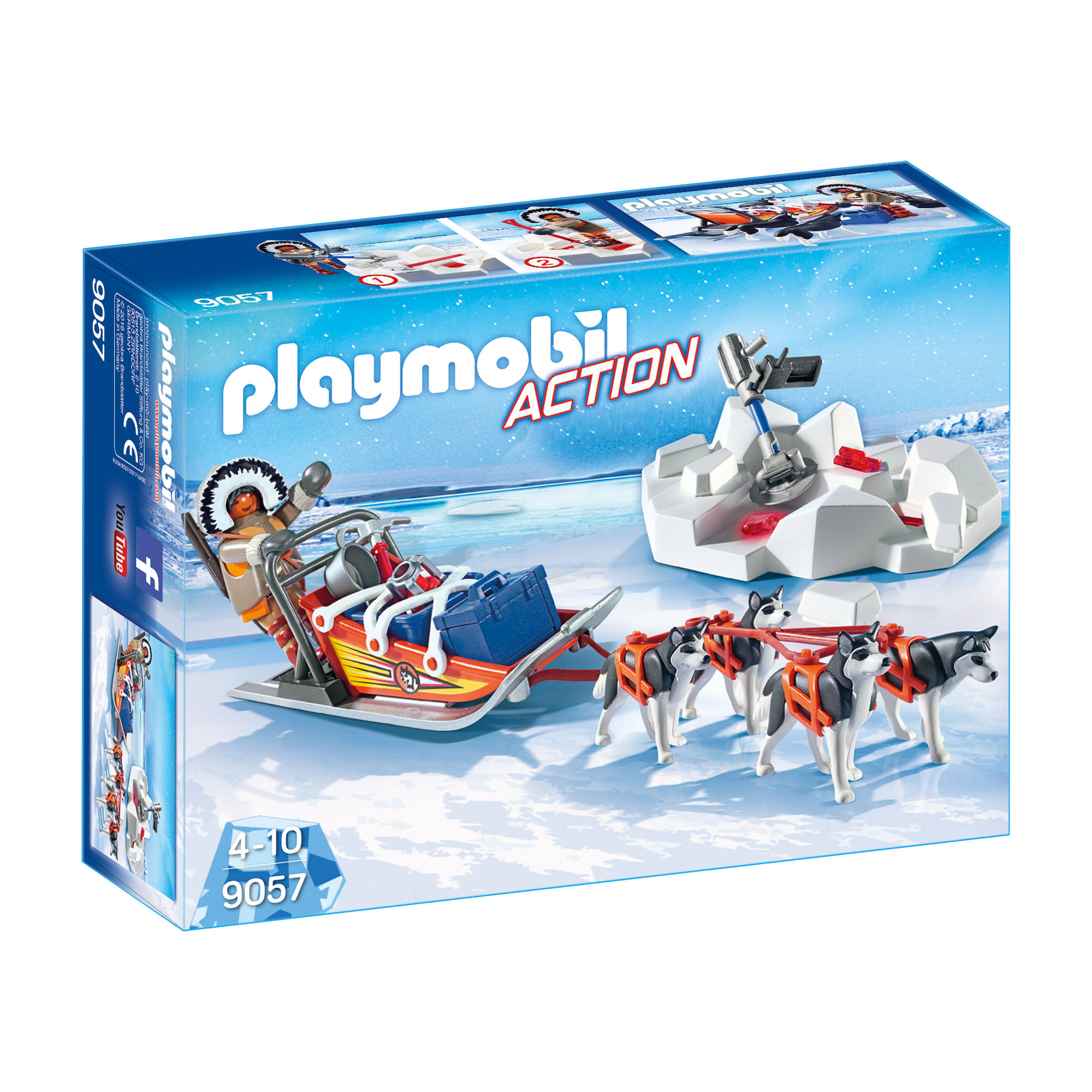 Playmobil Arctic Explorers Husky Sled play set