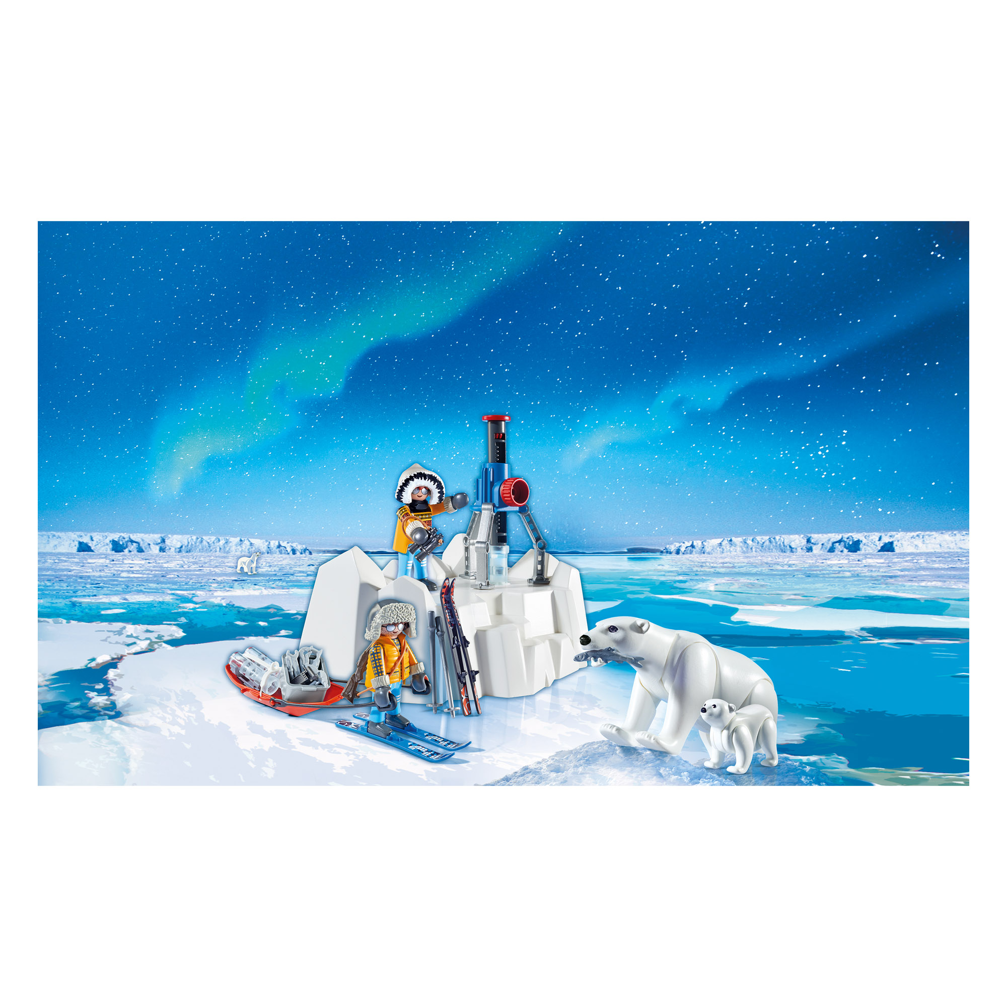 Playmobil Arctic Explorers with Polar Bears play set