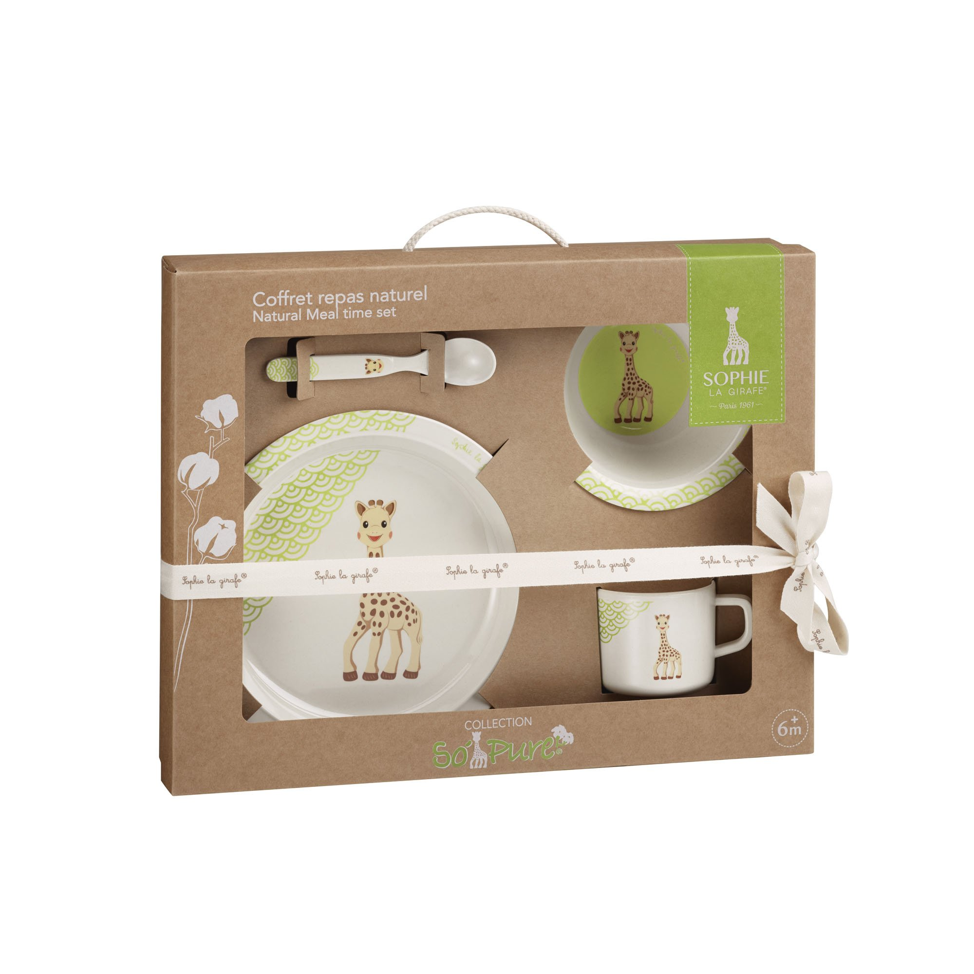 Sophie La Girafe Bamboo Natural Mealtime Set