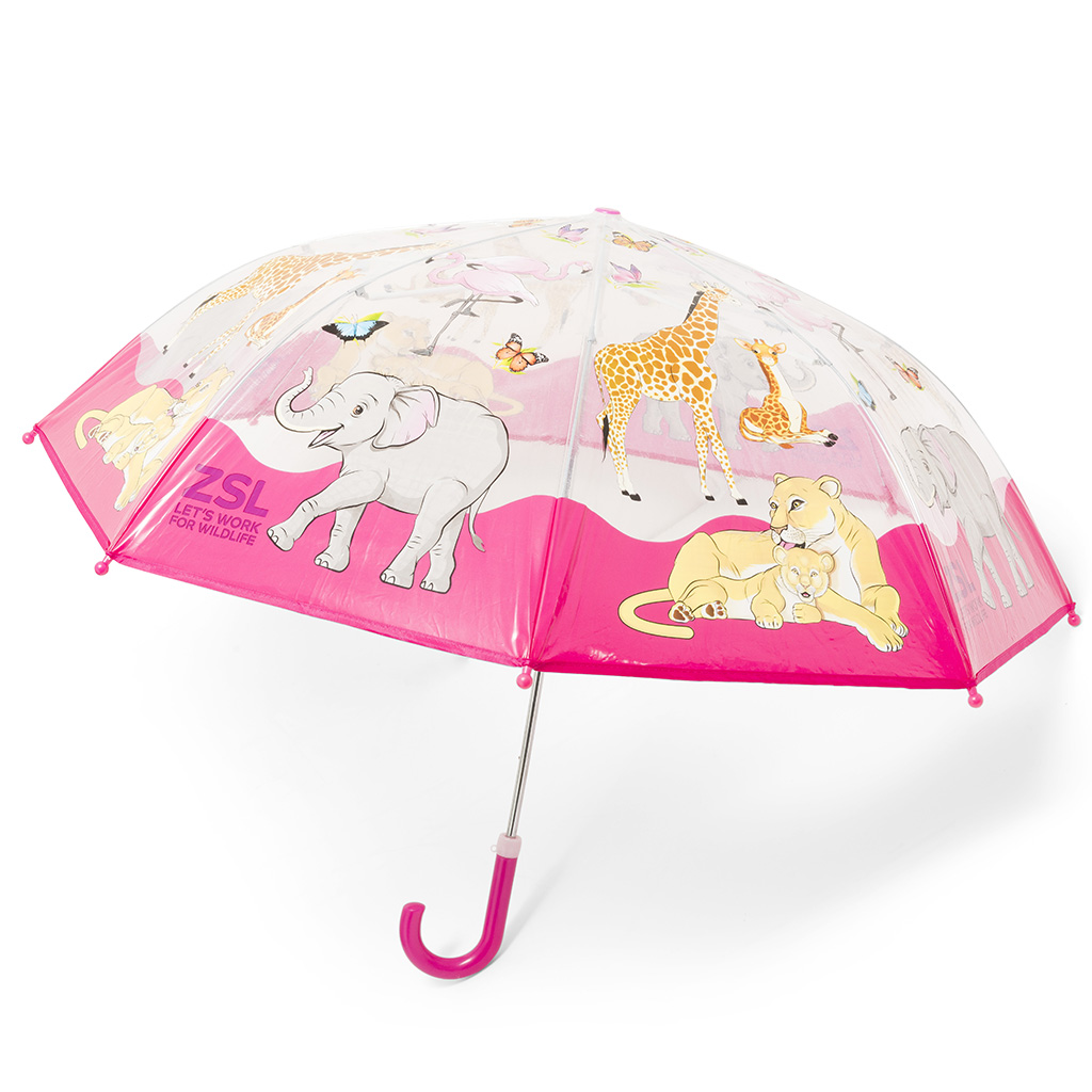 Children's Zoo umbrella, pink