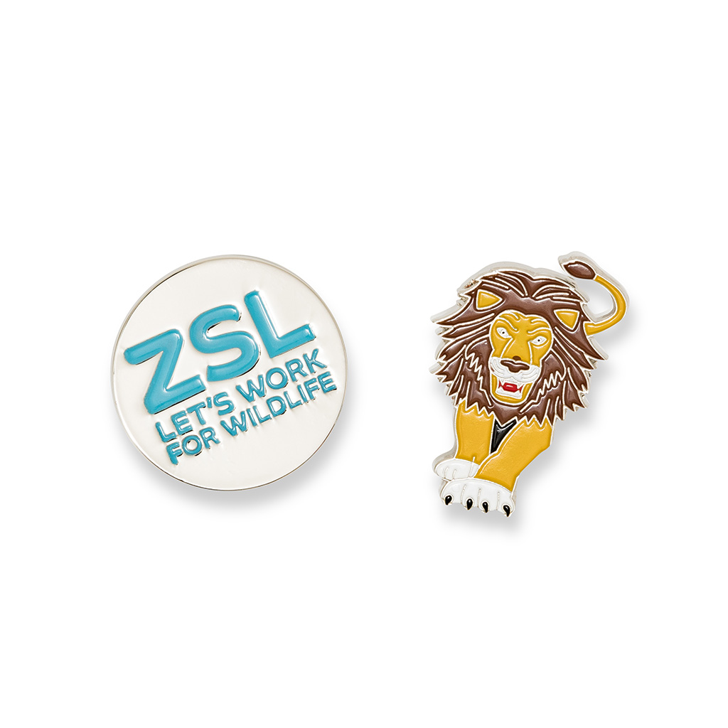 Lion enamel pin badge