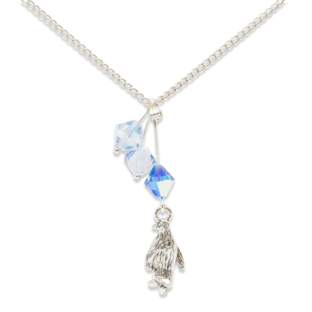 Crystal Penguin Necklace