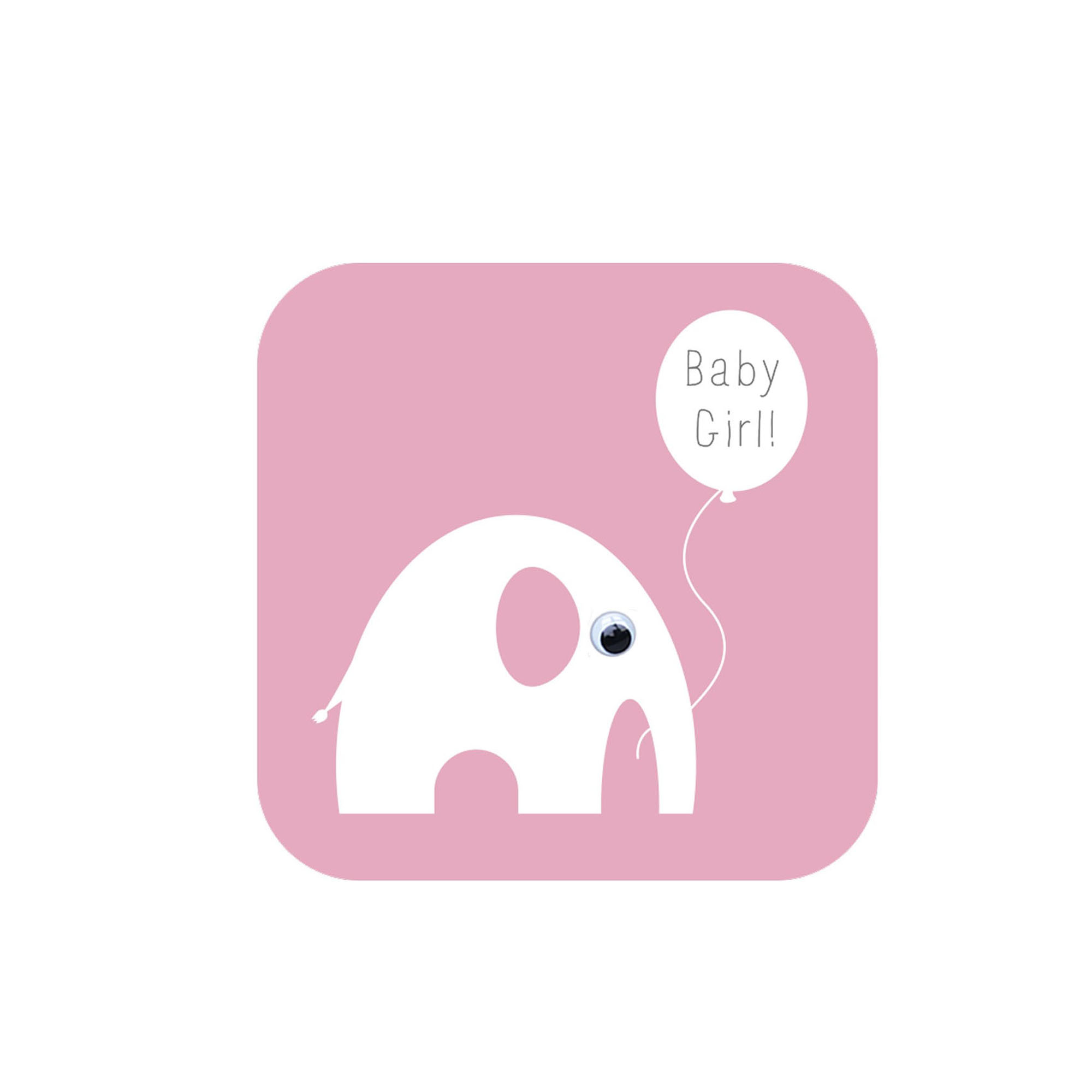 Baby Girl Elephant Greeting Card