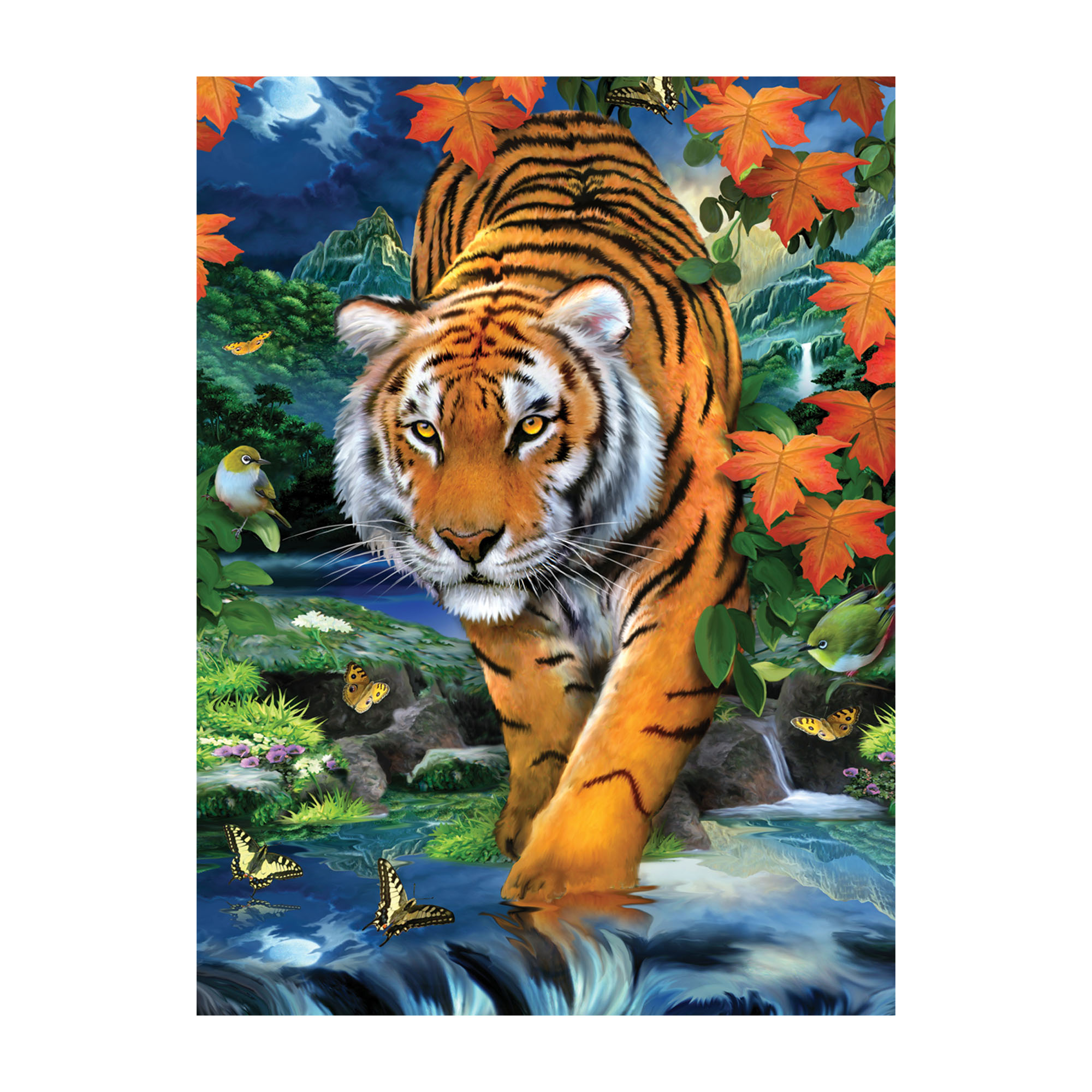Tiger on the prowl painting by number kit