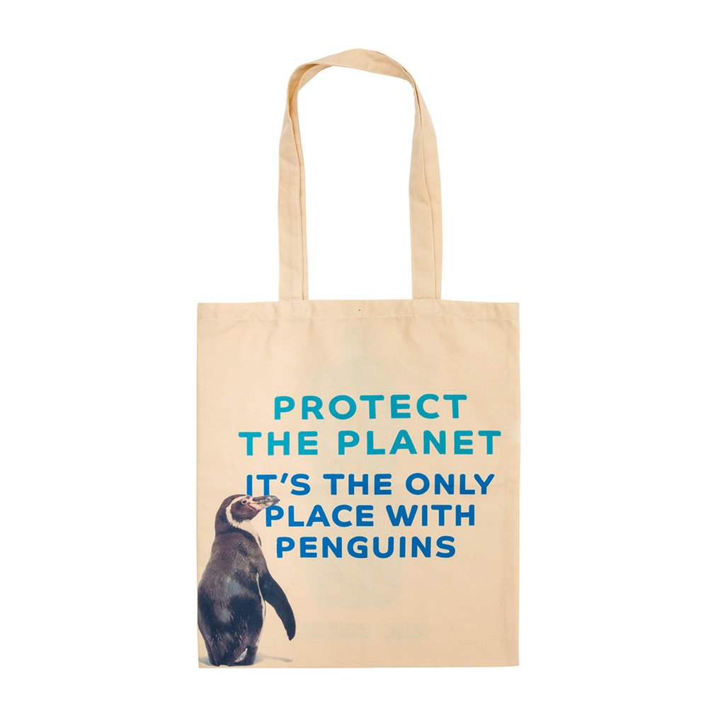 Recycled Plastic Penguin Tote Bag front