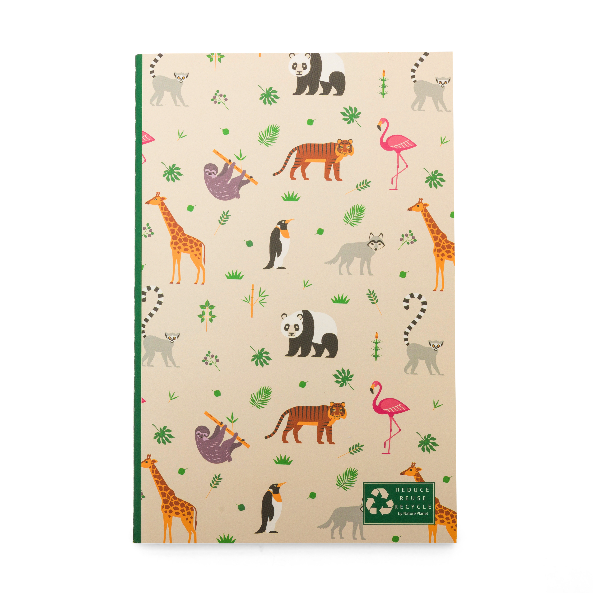 Animal recycled notebook
