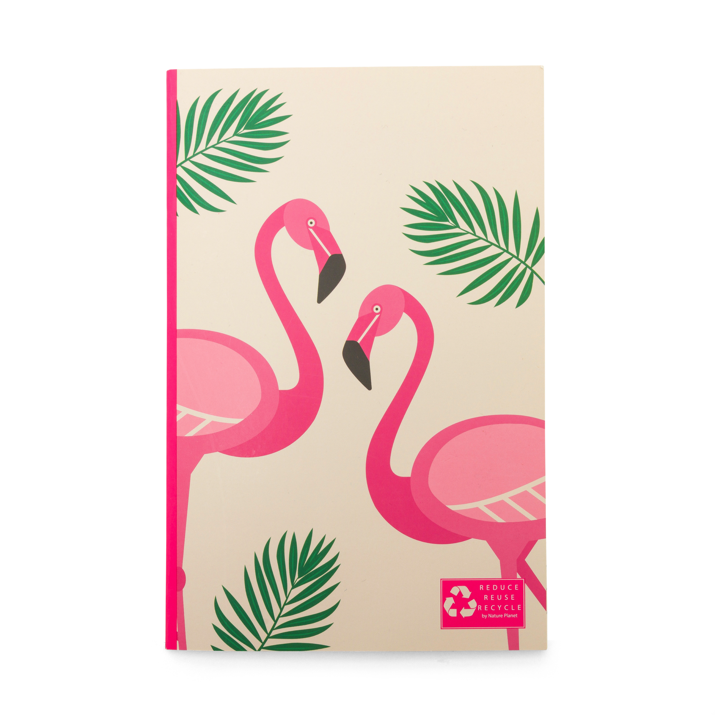 Flamingo recycled notebook