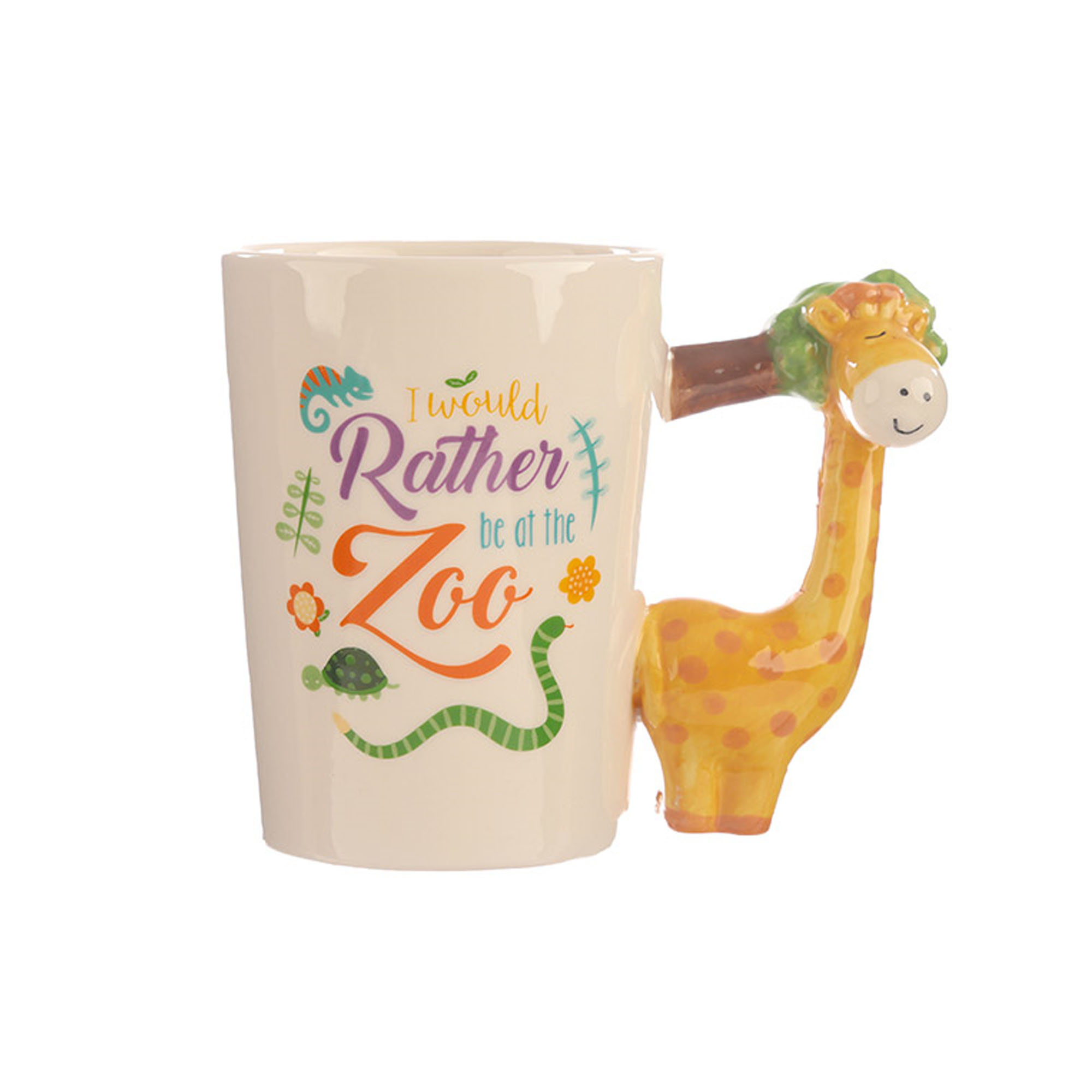 Giraffe handle mug