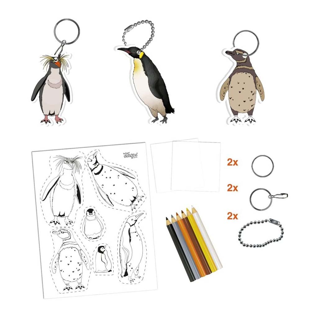Shrinkles Penguin Craft Kit pieces