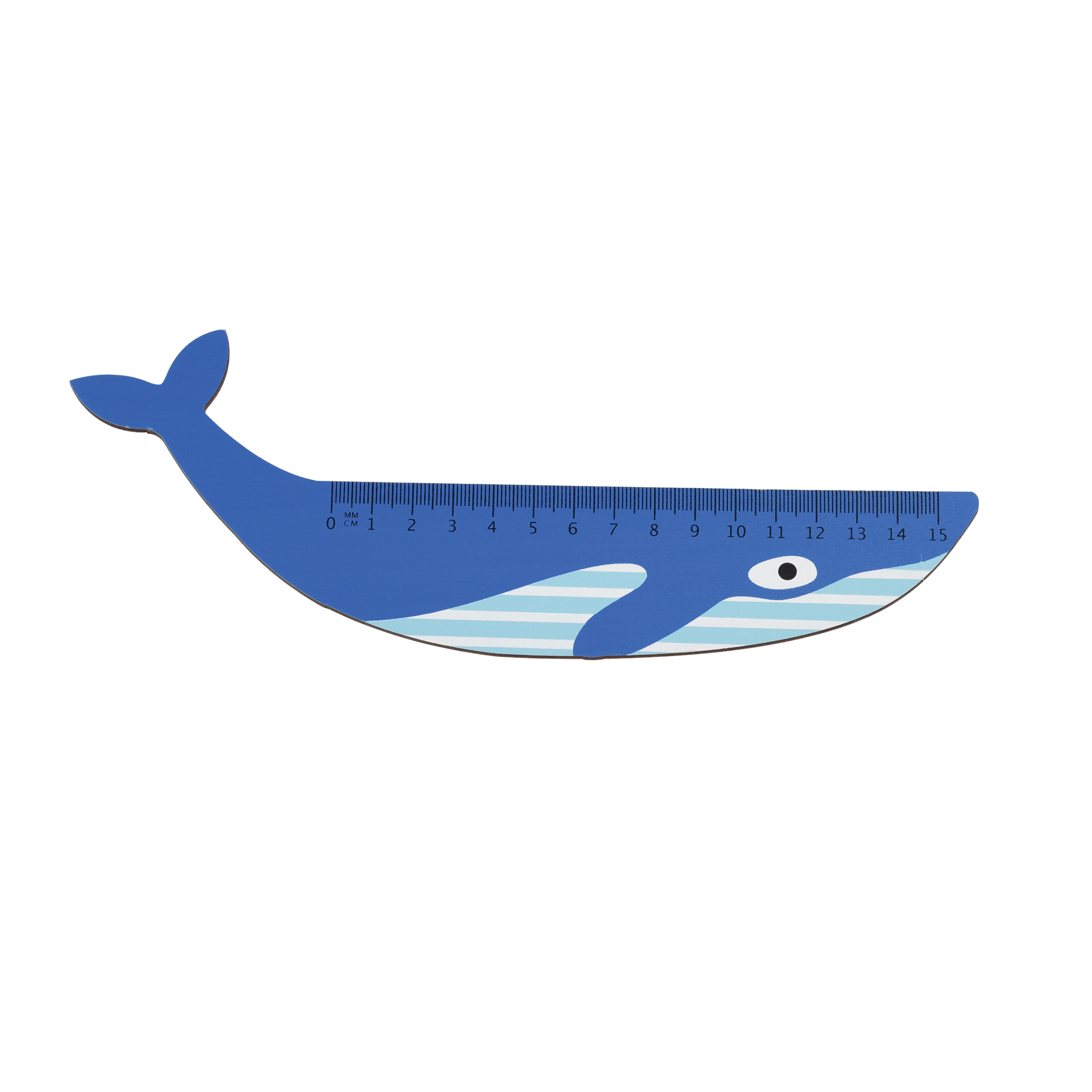 Blue Whale Wooden Ruler