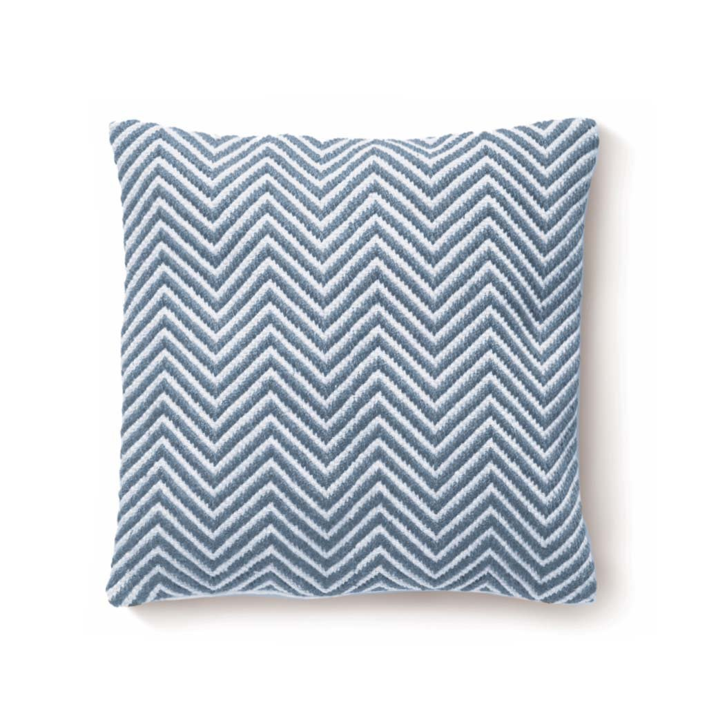 Denim blue cushion