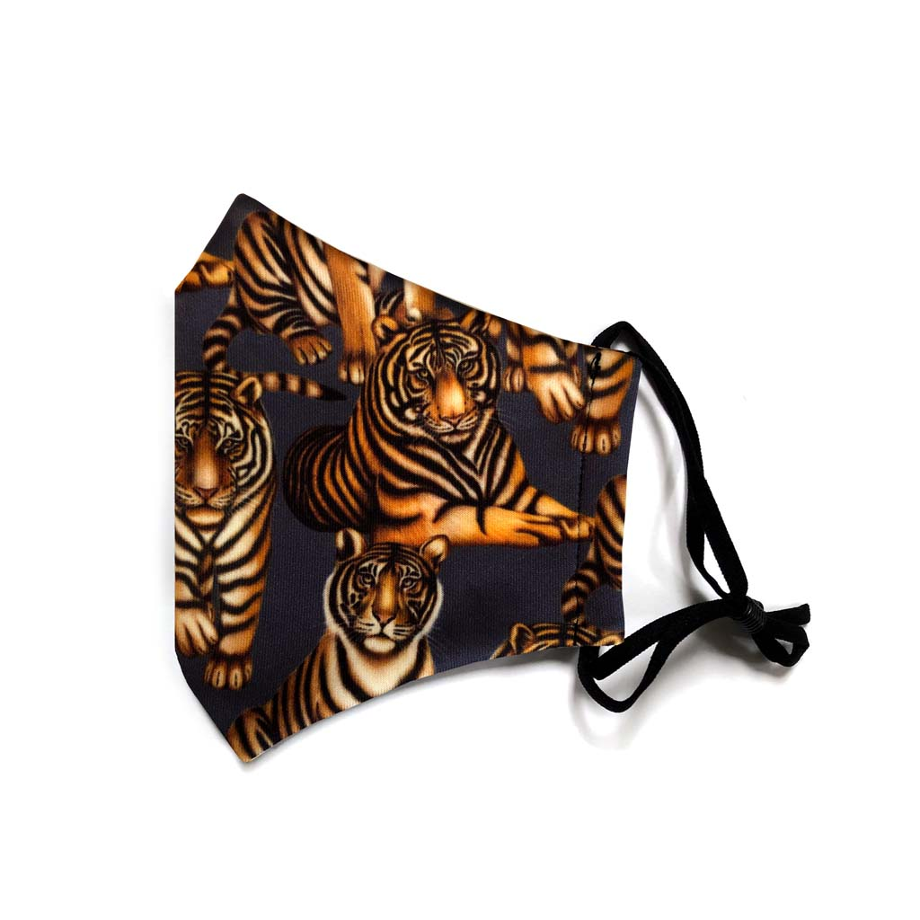 Reusable Tiger Face Mask folded