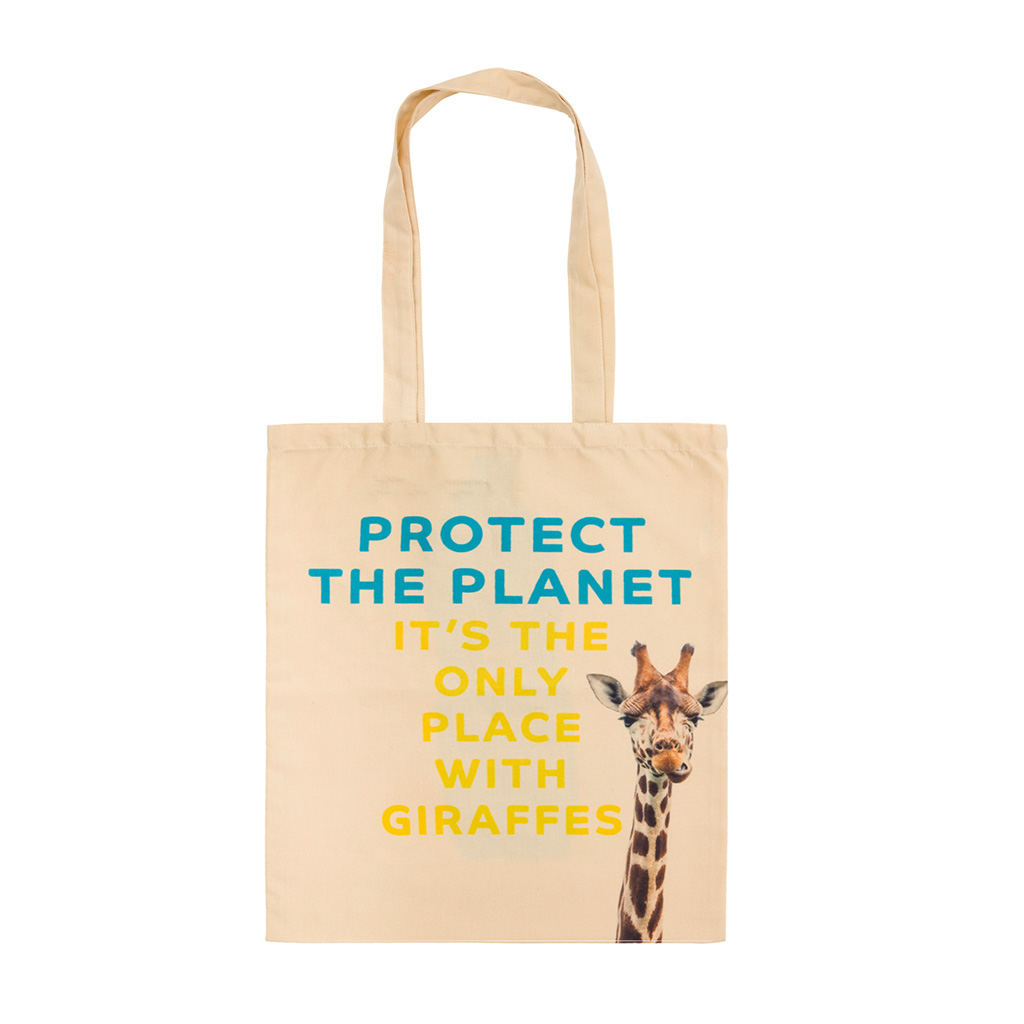 Recycled Plastic Giraffe Tote Bag front
