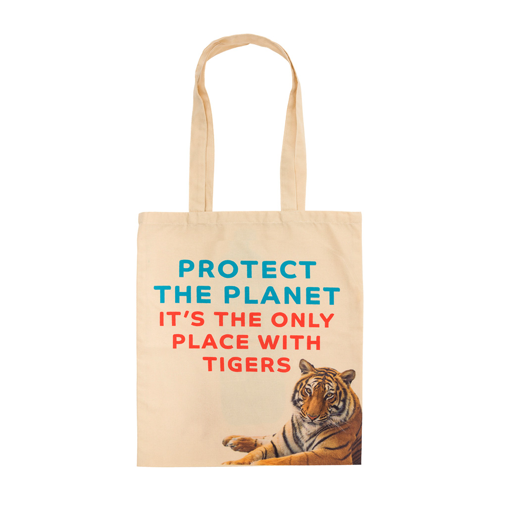 Recycled Plastic Tiger Tote Bag front