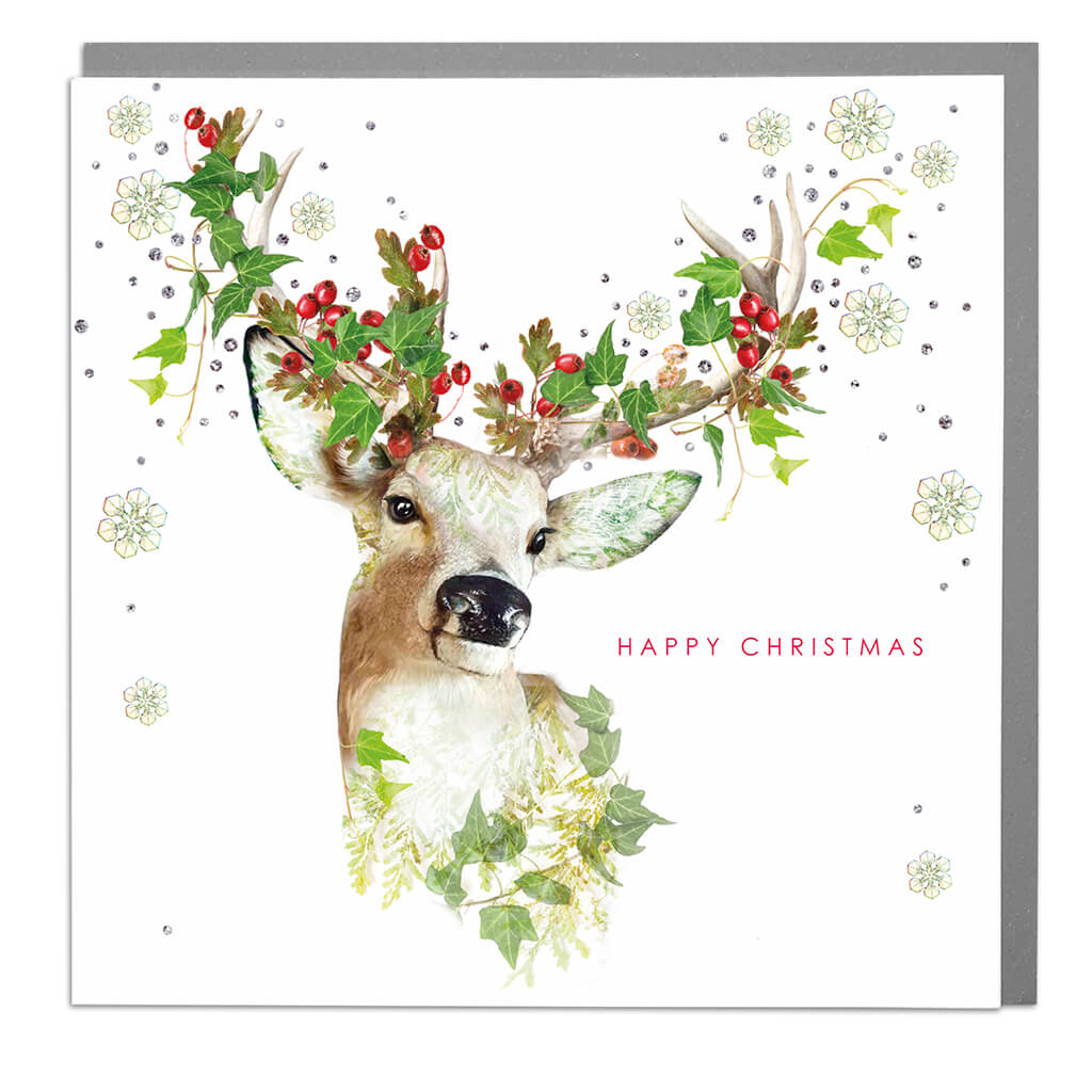 Reindeer Season's Greetings Card
