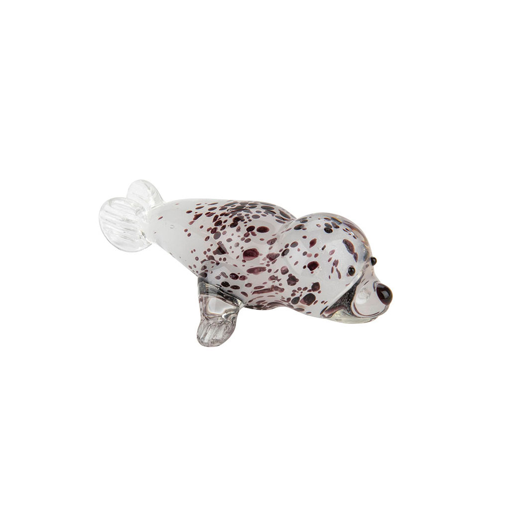 Harbour Seal Glass Ornament