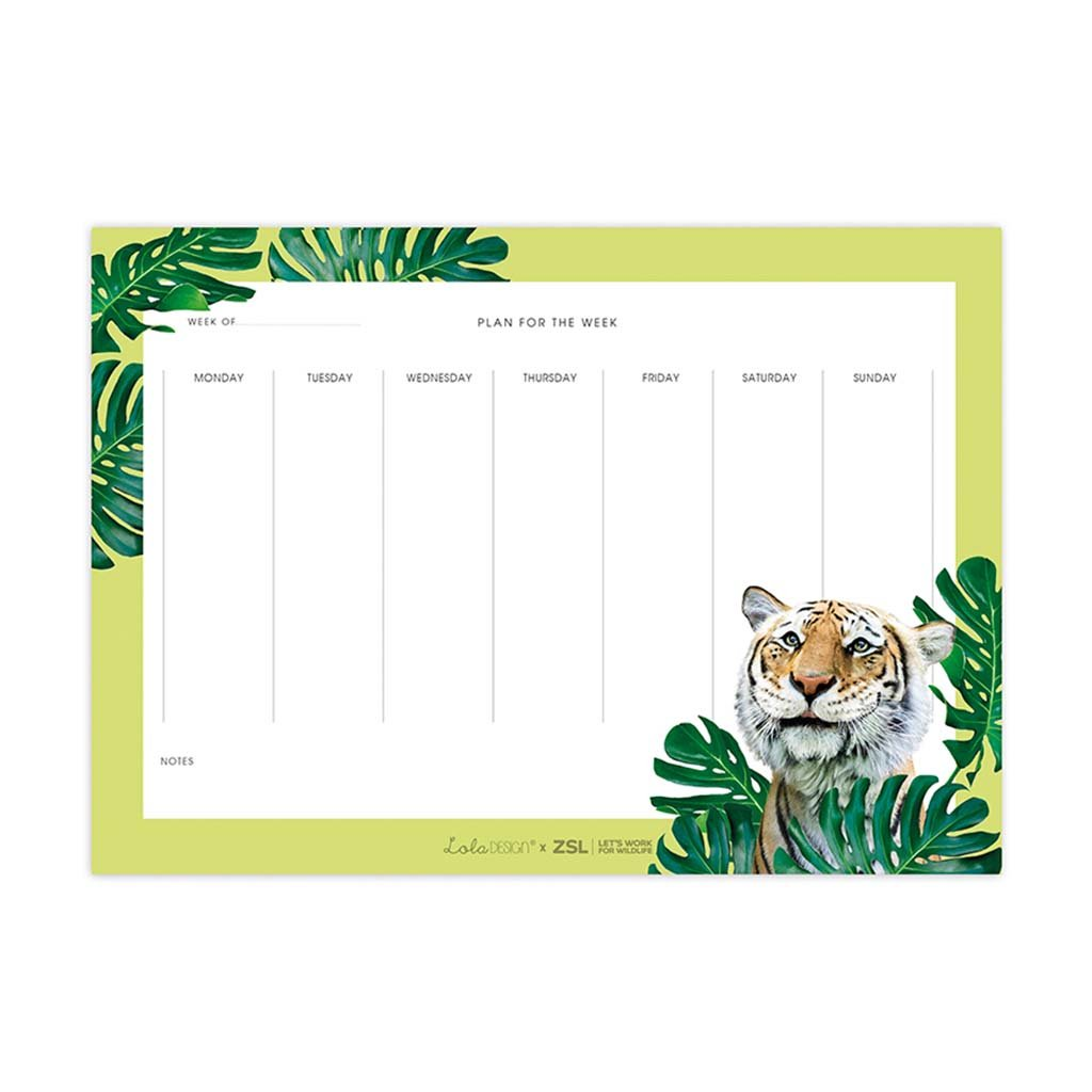 Lola Tiger Weekly Planner, A4