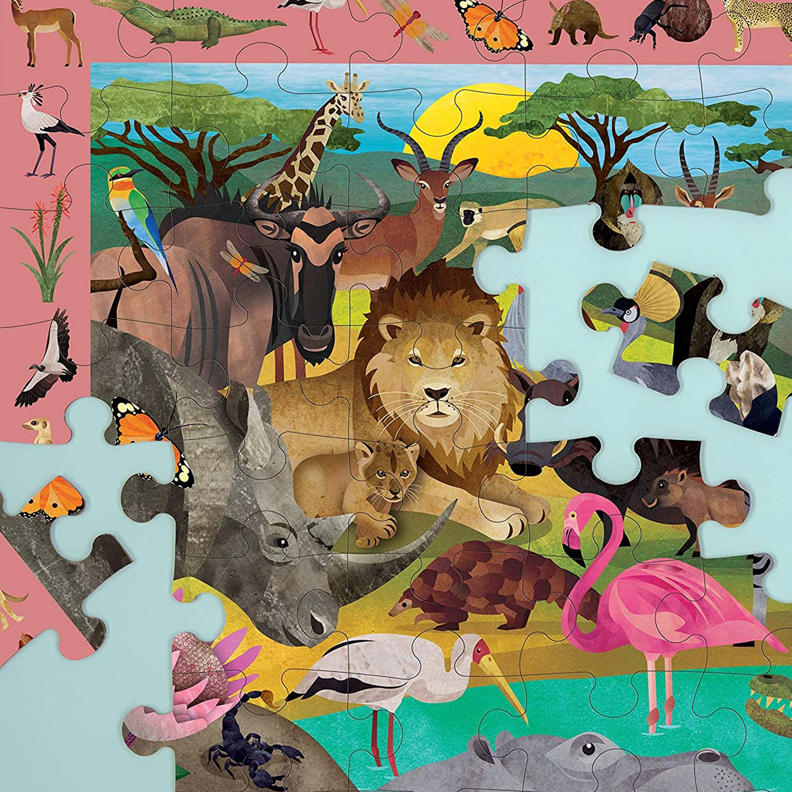 Safari Search And Find Jigsaw Puzzle, 64 Pieces