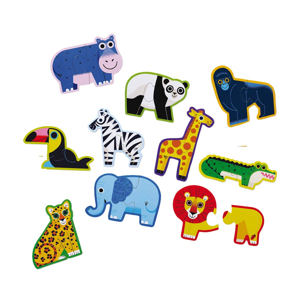 Let's Begin! Jungle Animal Puzzles, 10 sets of 2 pcs