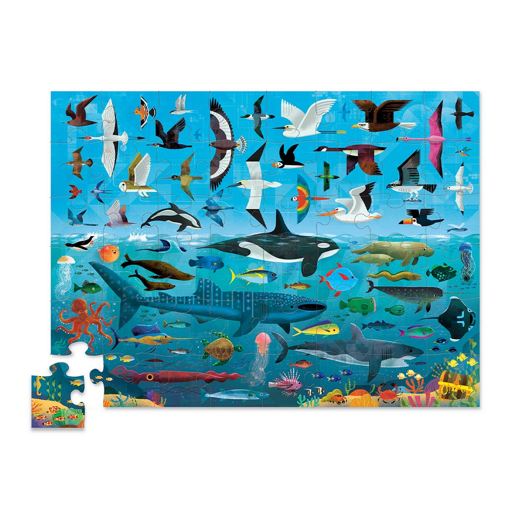 Above and Below: Sea and Sky Jigsaw Puzzle, 48 pcs
