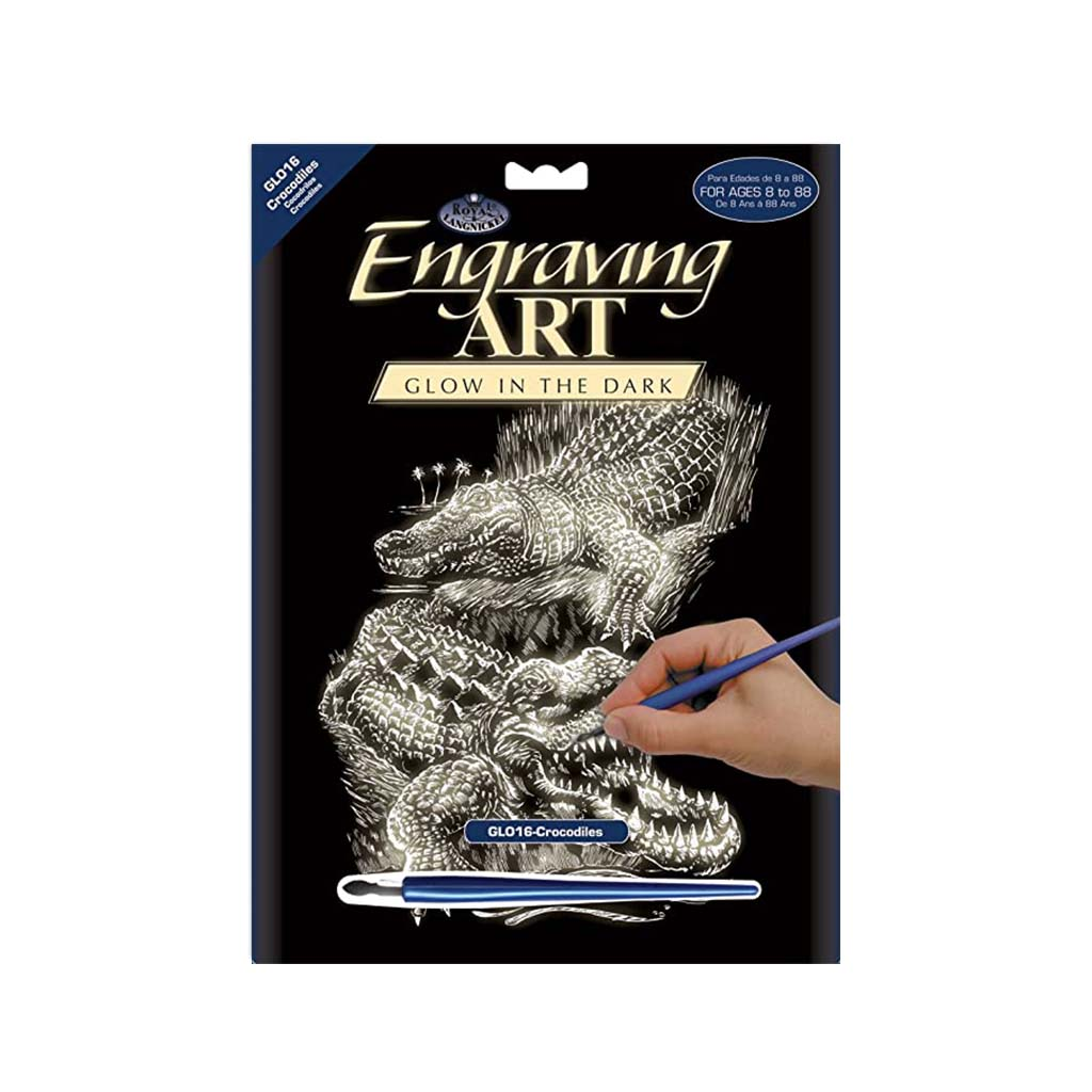 Crocodile Engraving Kit, Glow In The Dark