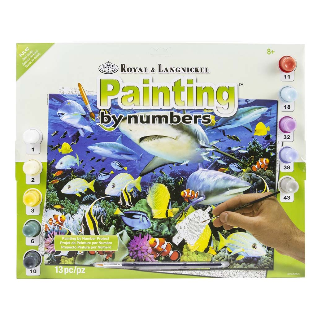 Reef Sharks Paint by Numbers Kit