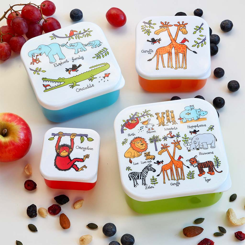 Jungle Snack Boxes, Set of 4 lifestyle