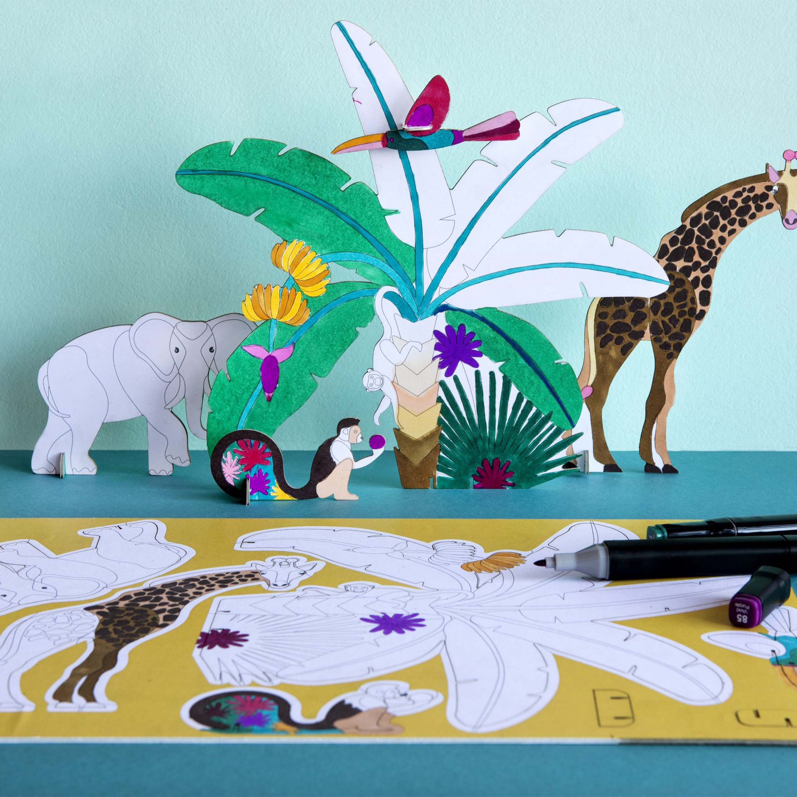 Jungle Story Colour In Wall Art Lifesyle