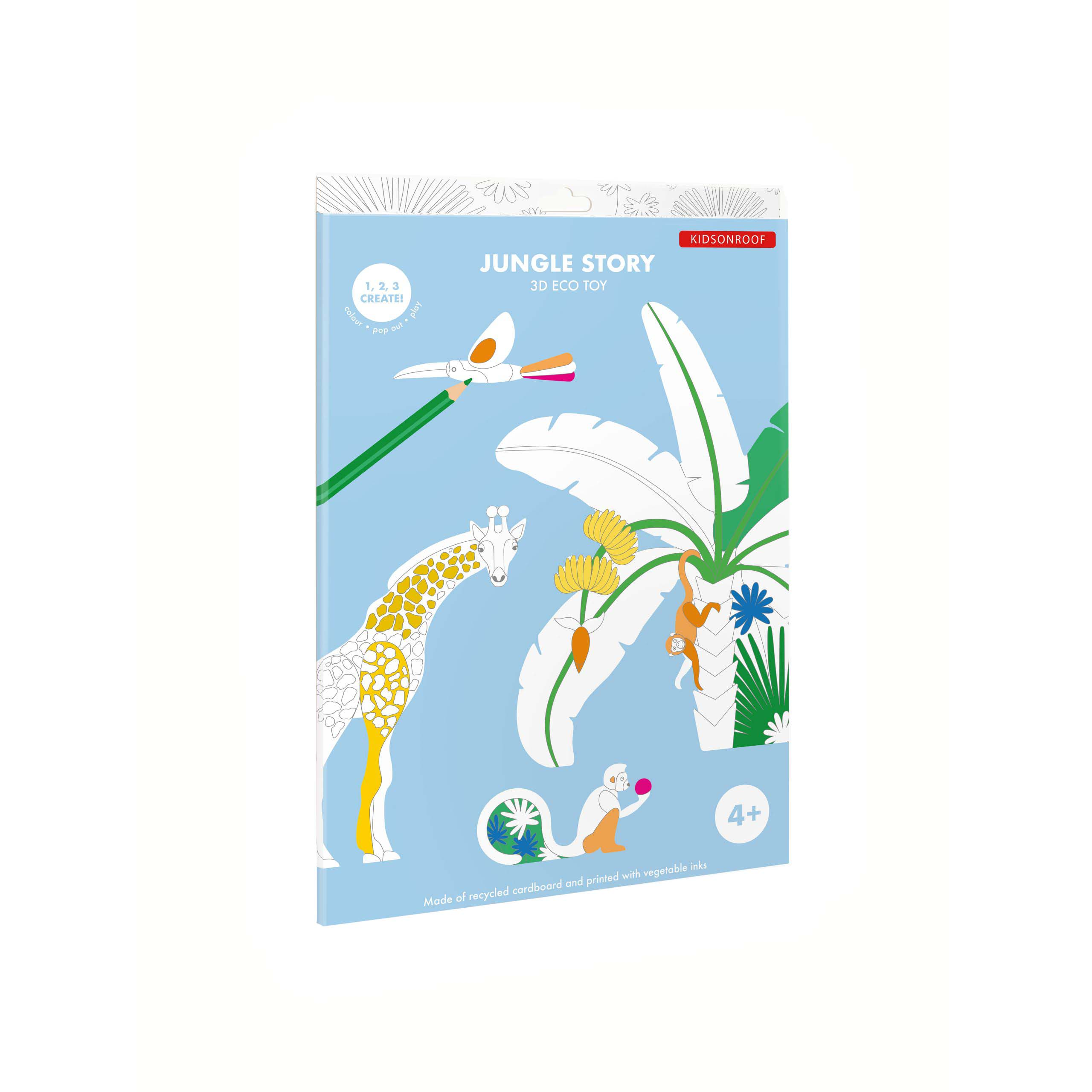 Jungle Story Colour In Wall Art pack