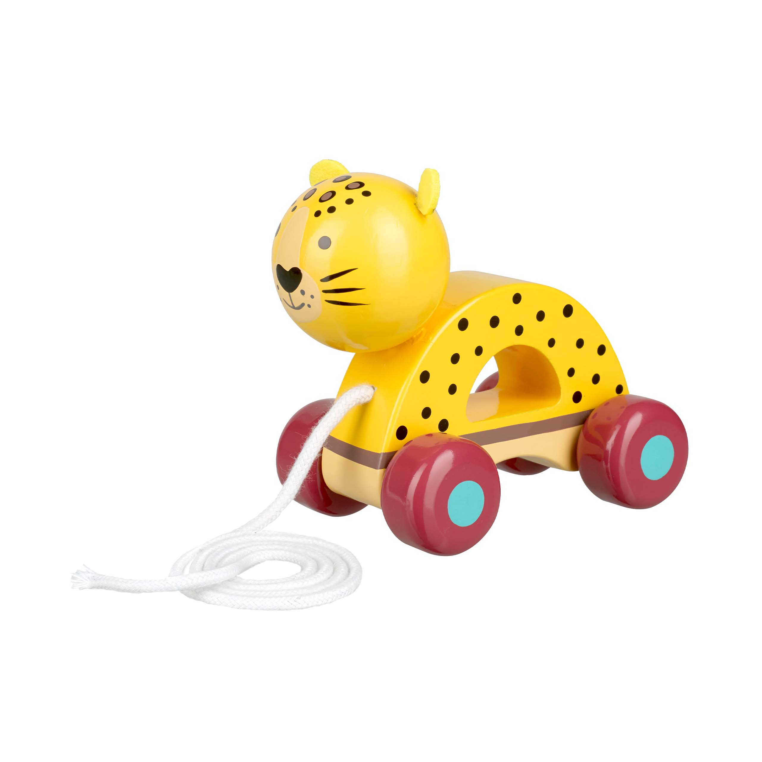 Leopard Pull Along Toy