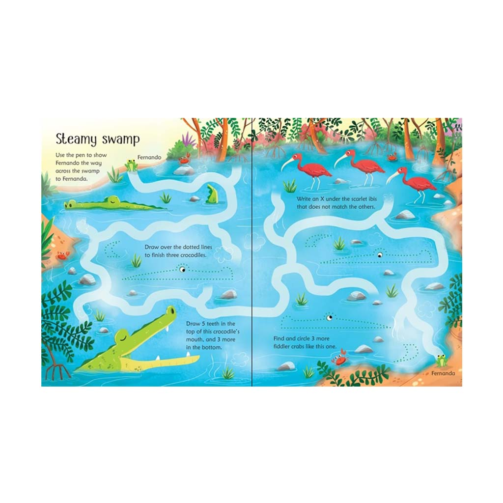 Wipe-Clean Jungle Activities Book page