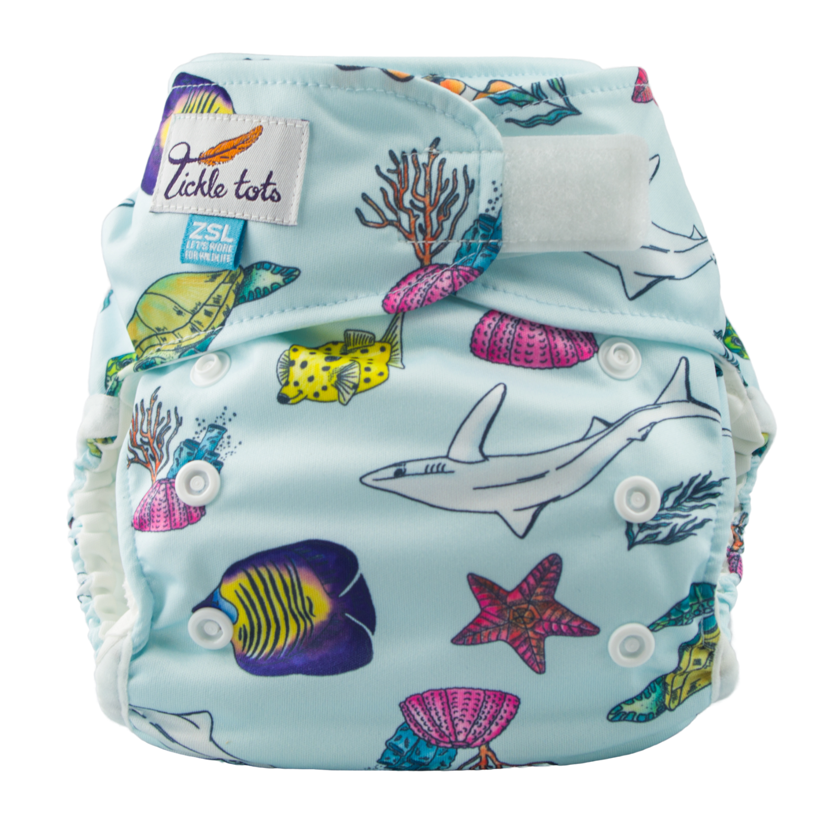 Tickle Tots 2 Ocean Reusable Nappy