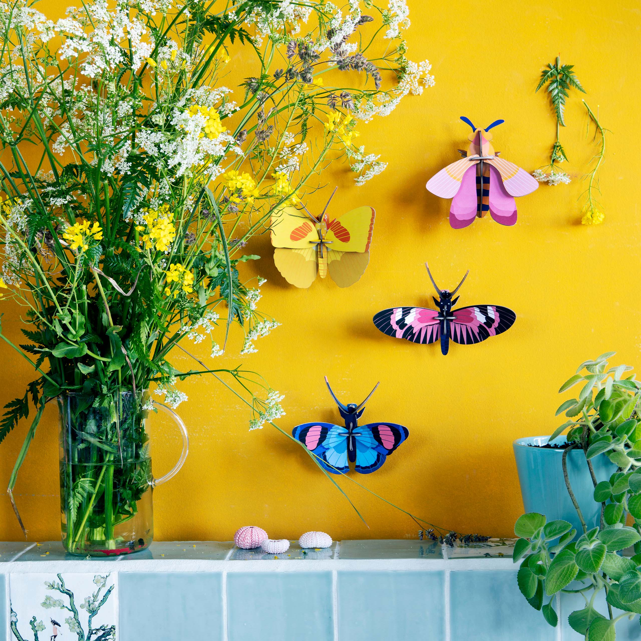 Peacock butterfly wall art lifestyle