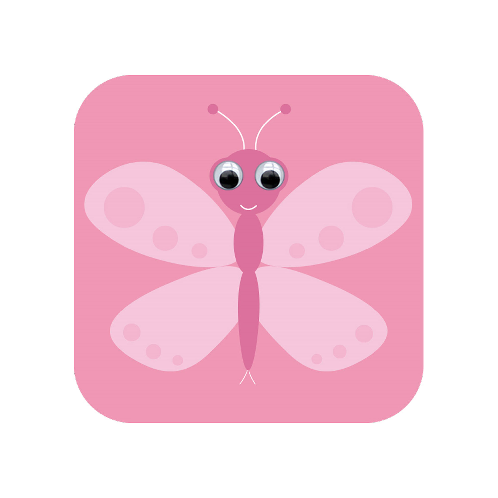 butterfly googly eyed card