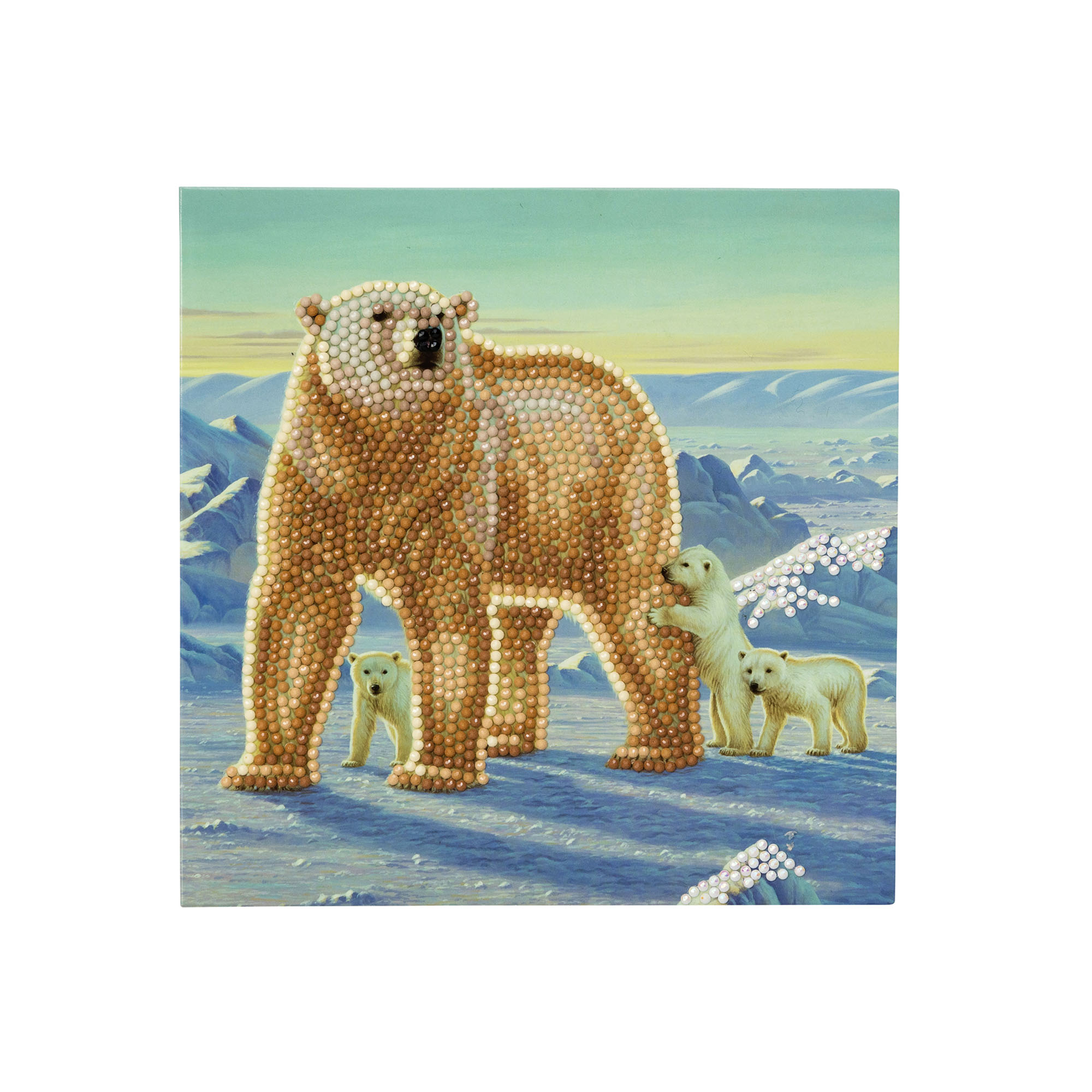 Polar Bear Crystal Card Kit