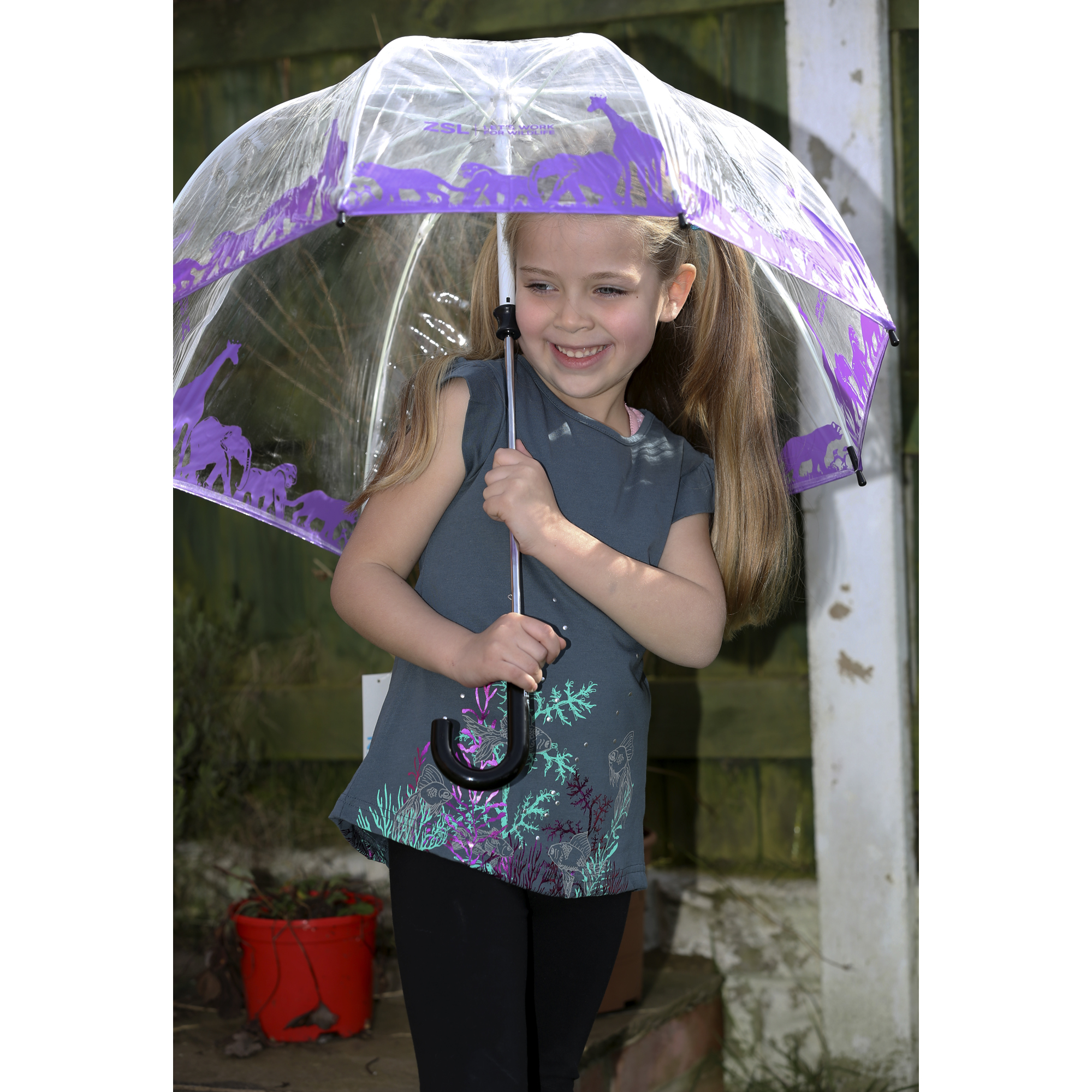 Children's animal umbrella, purple
