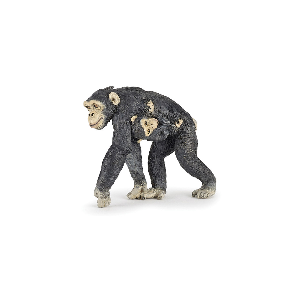 Papo chimpanzee and baby figure