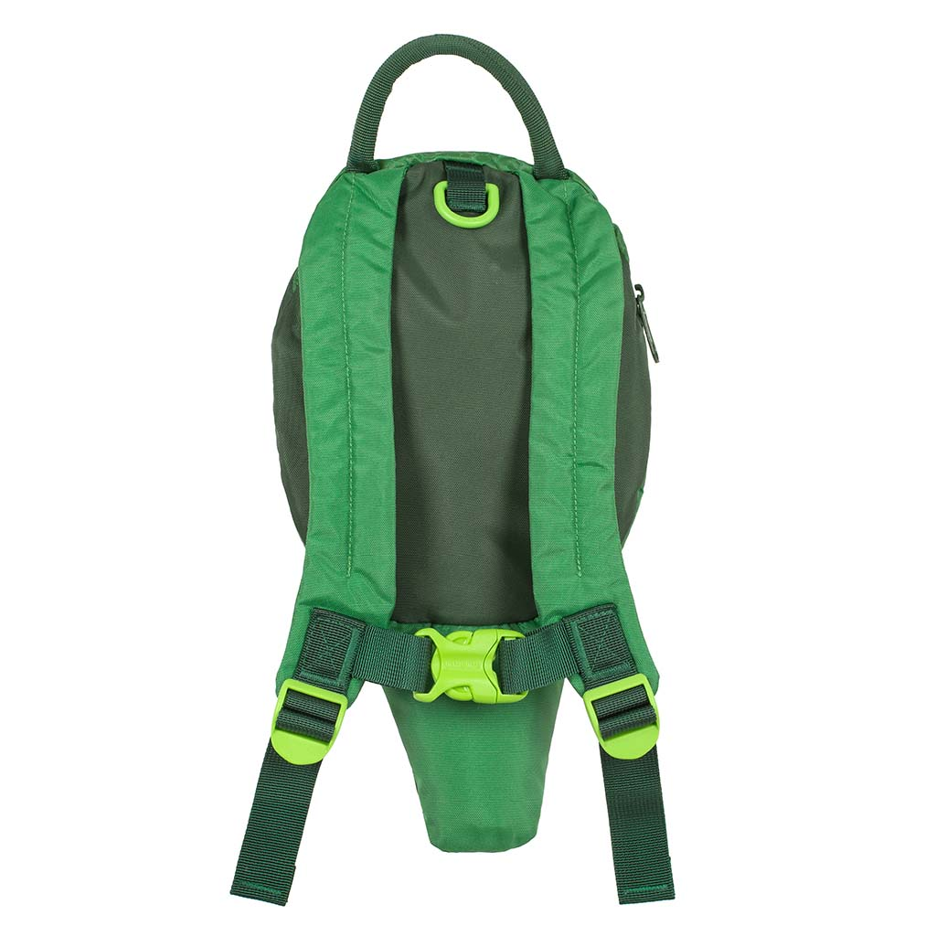 Crocodile toddler backpack with reins back