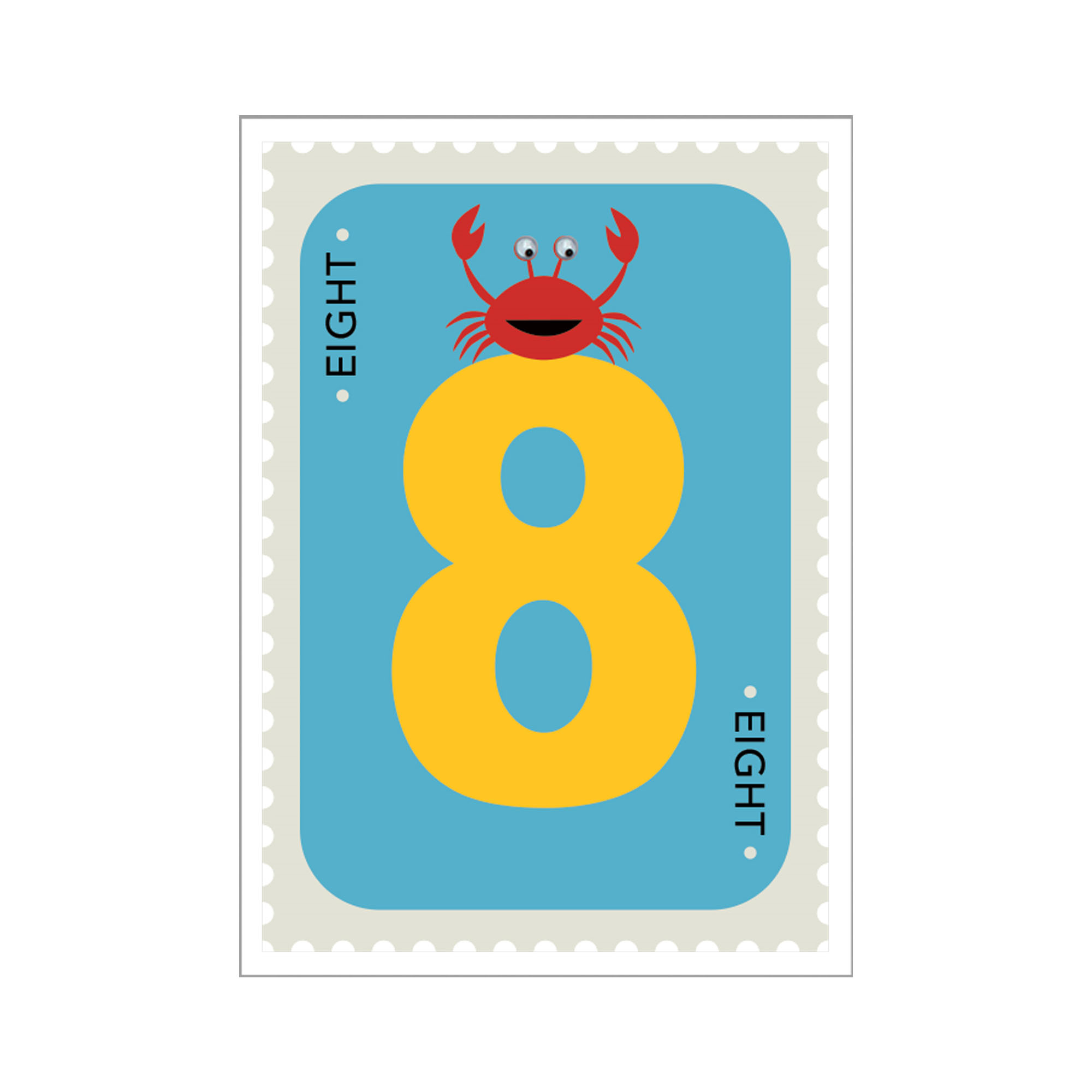 crab 8th birthday card