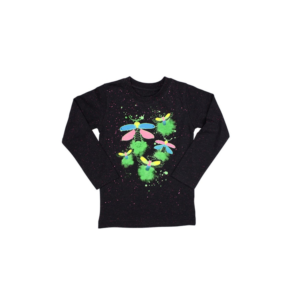 Childrens glow in the dark firefly t-shirt