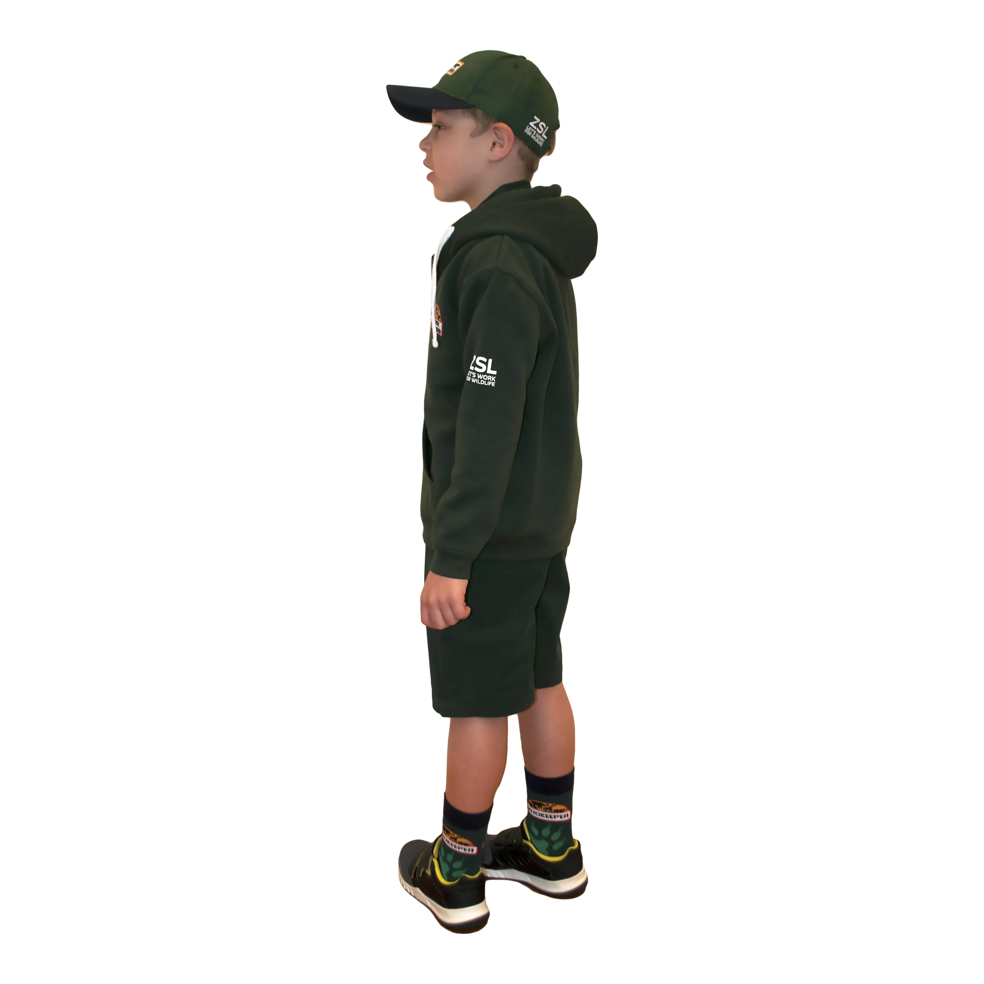 Junior Zoo Keeper hoodie, green
