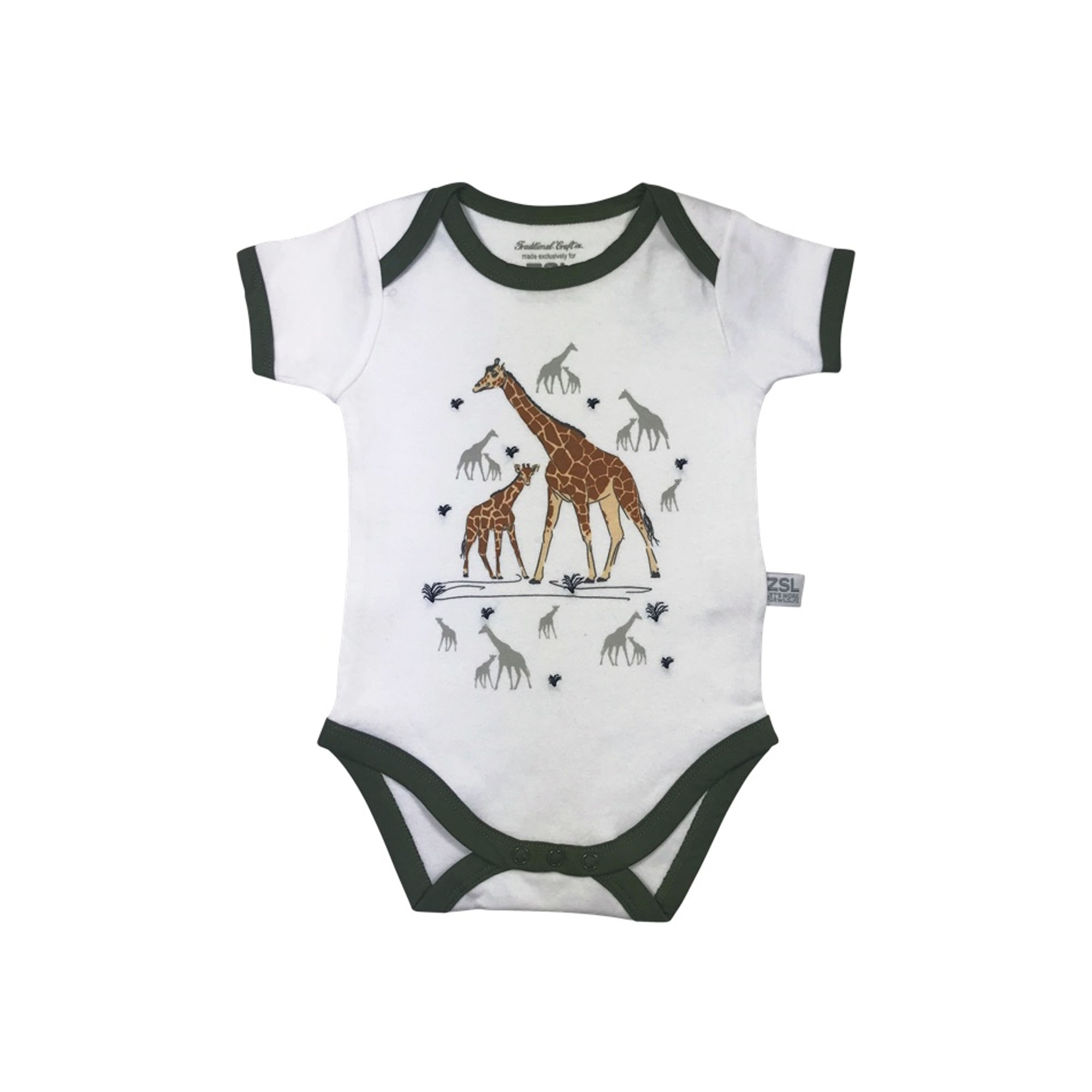 Mother and baby giraffe bodysuit