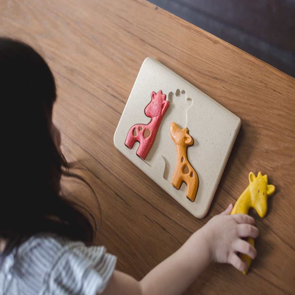 Eco Giraffe Family Puzzle, 18 months +