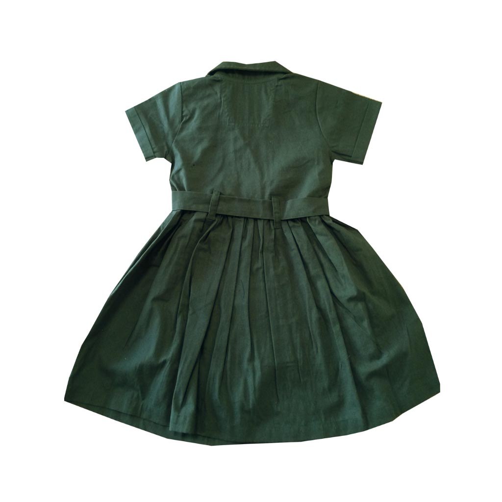 Junior Zoo Keeper Belted Dress, 1-2 yrs back